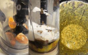 Blend low carb orange madeleine batter