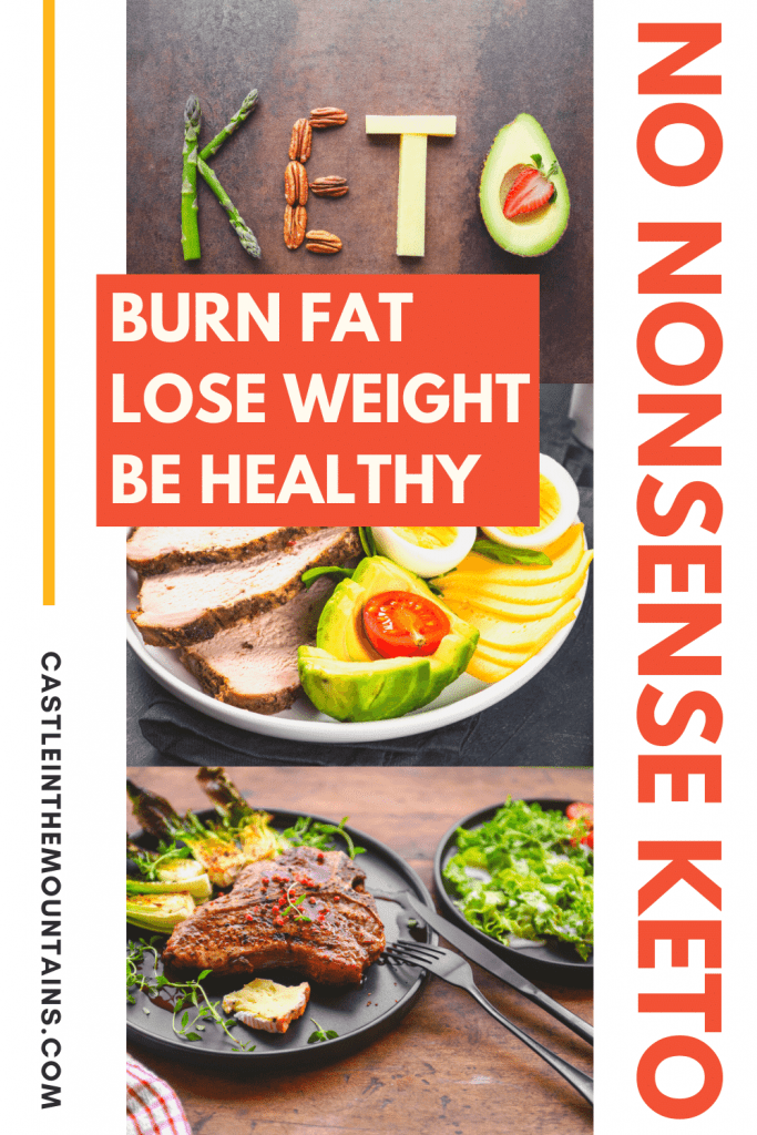 No Nonsense Keto Guide, Easy step by step, how to become a fat burner, lose weight and keep it off without being hungry