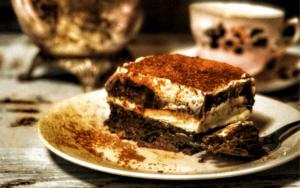 Served Low Carb Chocolate Mint Lasagna