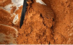 Mixed ingredients - browine crust