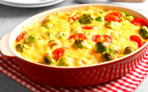 Served Low Carb Creamed Brussels Sprouts Recipe
