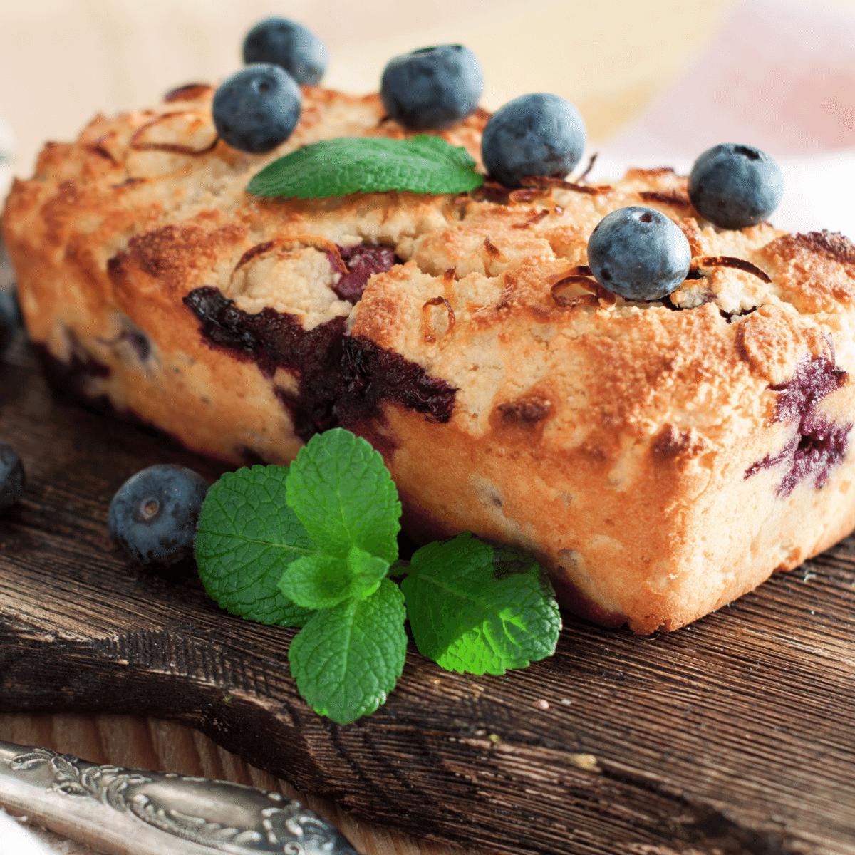 Low Carb Lemon Blueberry Bread FI