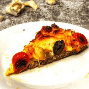 Served Low Carb Sausage Meatzza FI