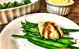 Served Low Carb Tahini Dijon Cream Green Beans Recipe