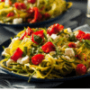Low Carb Zucchini Chevre and roasted tomatoes fi