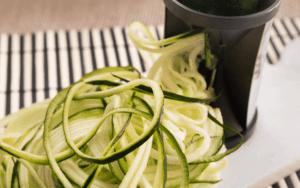 Spiralize the zucchini