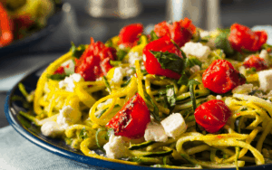 Served Low Carb Zucchini Chevre