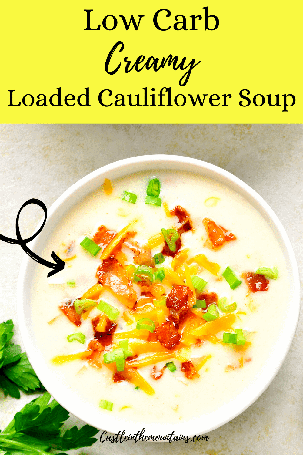 Loaded Cauliflower Soup - Make this tasty soup quick!