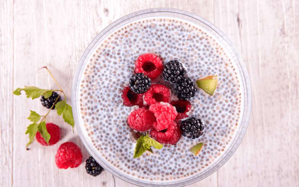 Chia seed cereal - Fiber helping with Menopause and Keto