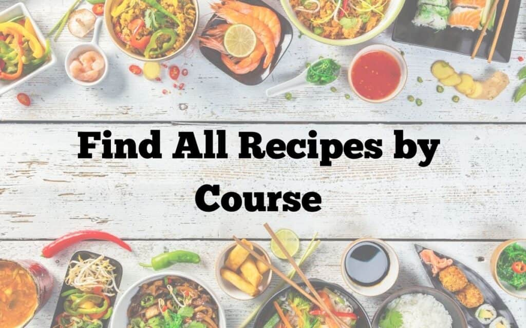 All recipes by course nav