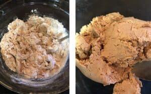 Combining ingredients to make truffles