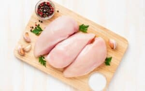 Chicken ready to be cut up