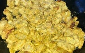 Browning butter chicken