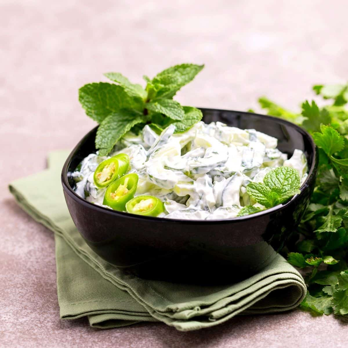 Low Carb Cucumber Raita FI