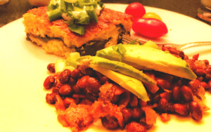 Serving low carb frijoles borrachos