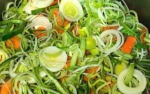 Saute Vegetables for soup