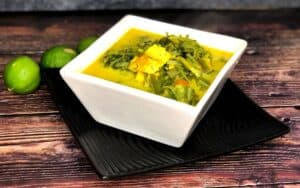 Served Low Carb Coconut Leek Soup Recipe