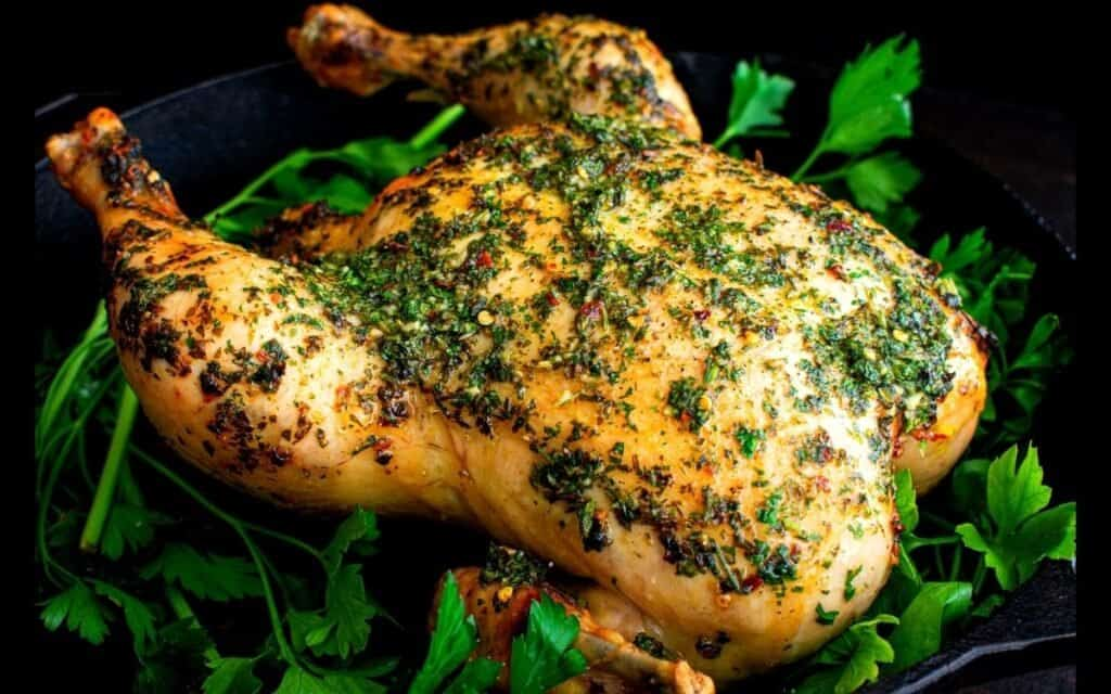 Served Roasted Chimichurri Chicken