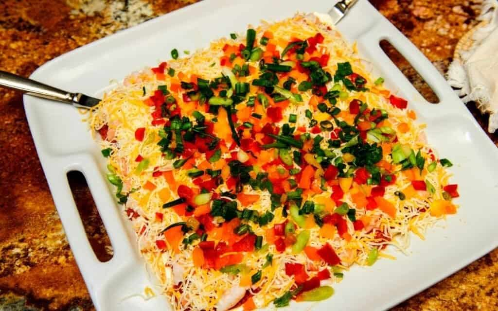 served 7 layer dip post
