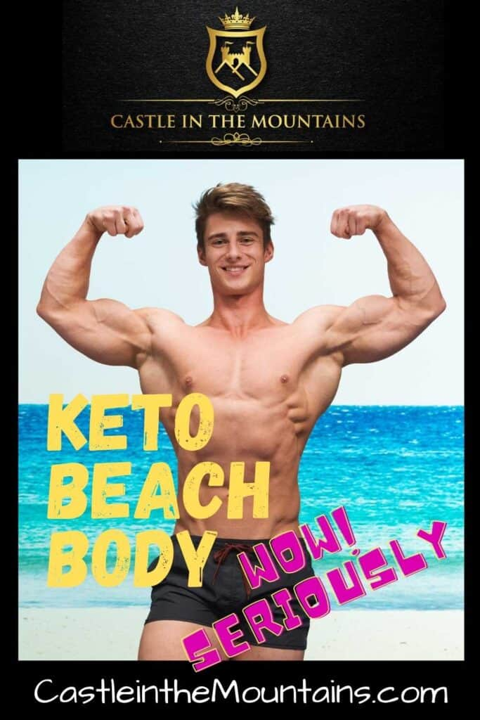Perfect Keto Beach Body Pin WOW Seriously