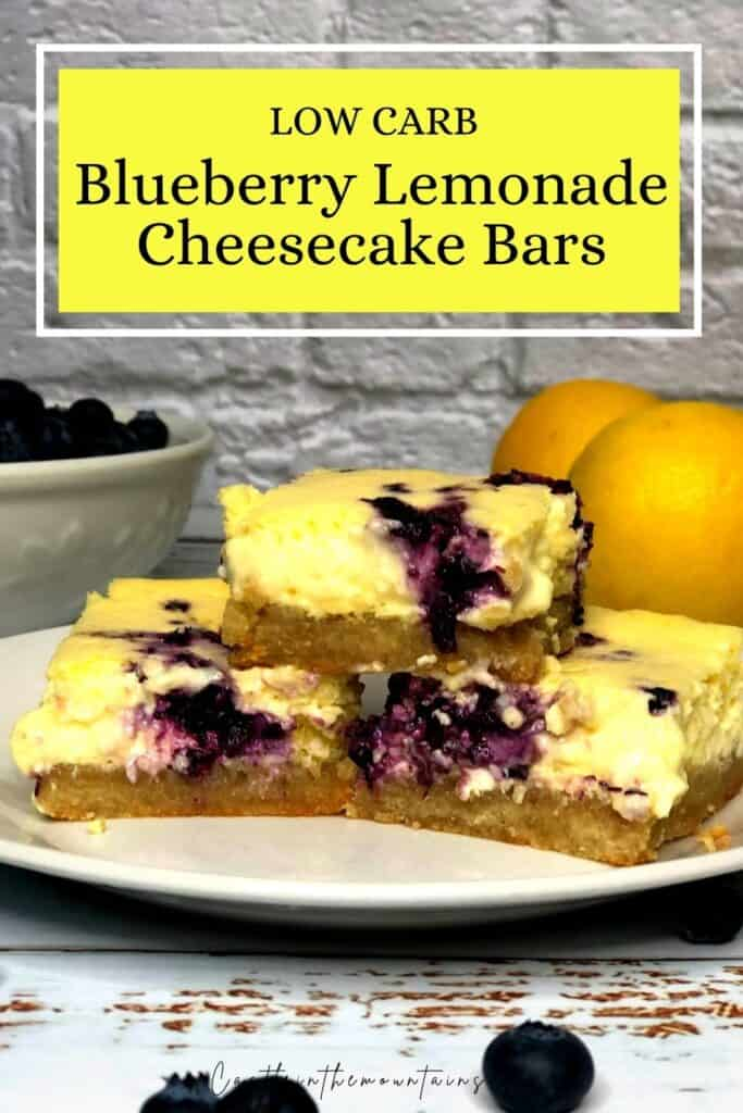 Low Carb Blueberry Lemon Cheesecake Bars Pins (4)