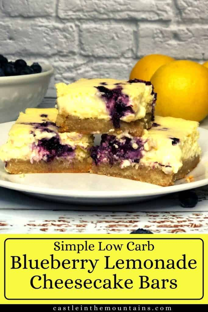 Low Carb Blueberry Lemon Cheesecake Bars Pins (5)