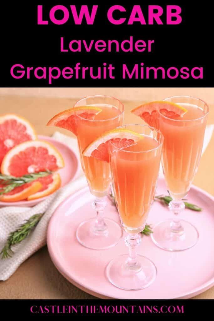 Low Carb Lavender Grapefruit Mimosa (3)