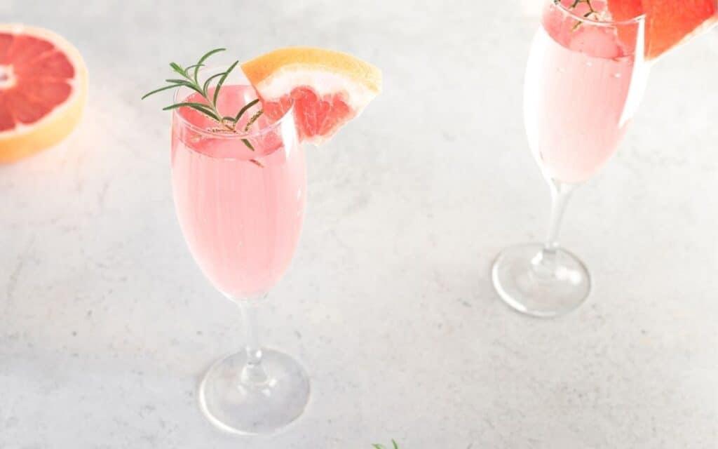 Served Lavender Grapefruit Mimosa