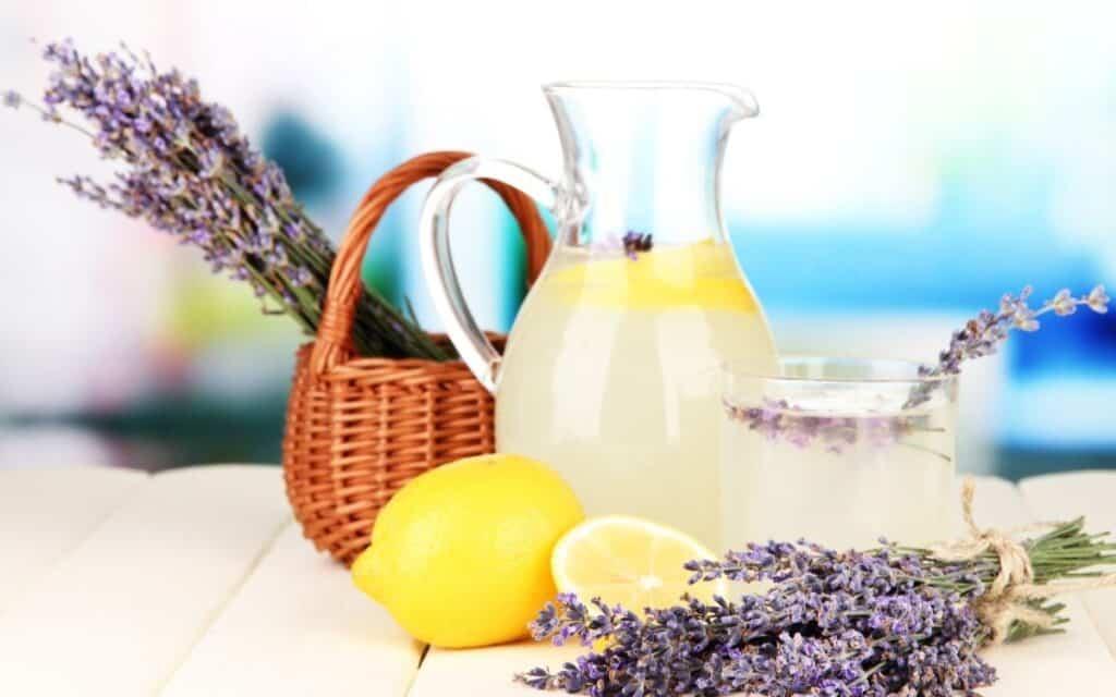 Served Low Carb Lavender Lemonade