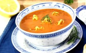 Served Low Carb Lobster Bisque