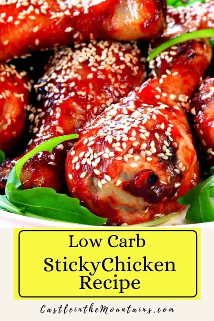 Low Carb Sticky Baked Chicken Pins (2)