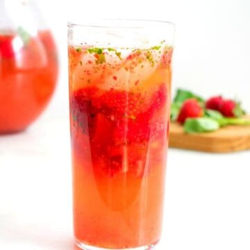 Low Carb Strawberry Basil Lemonade FI