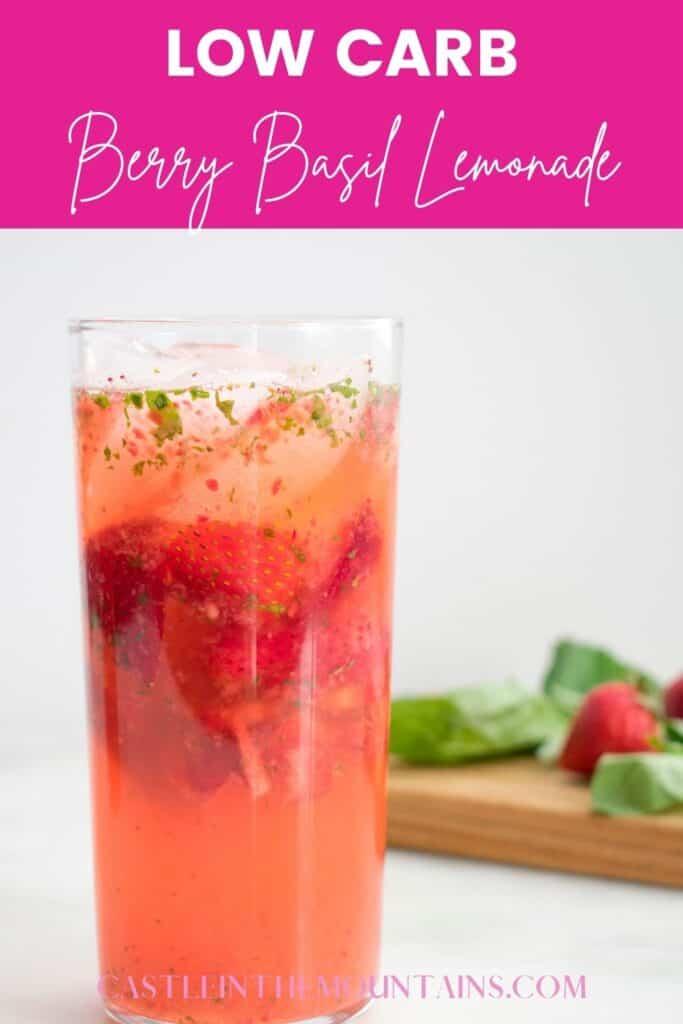 Low Carb Strawberry Basil Lemonade Pins (3)