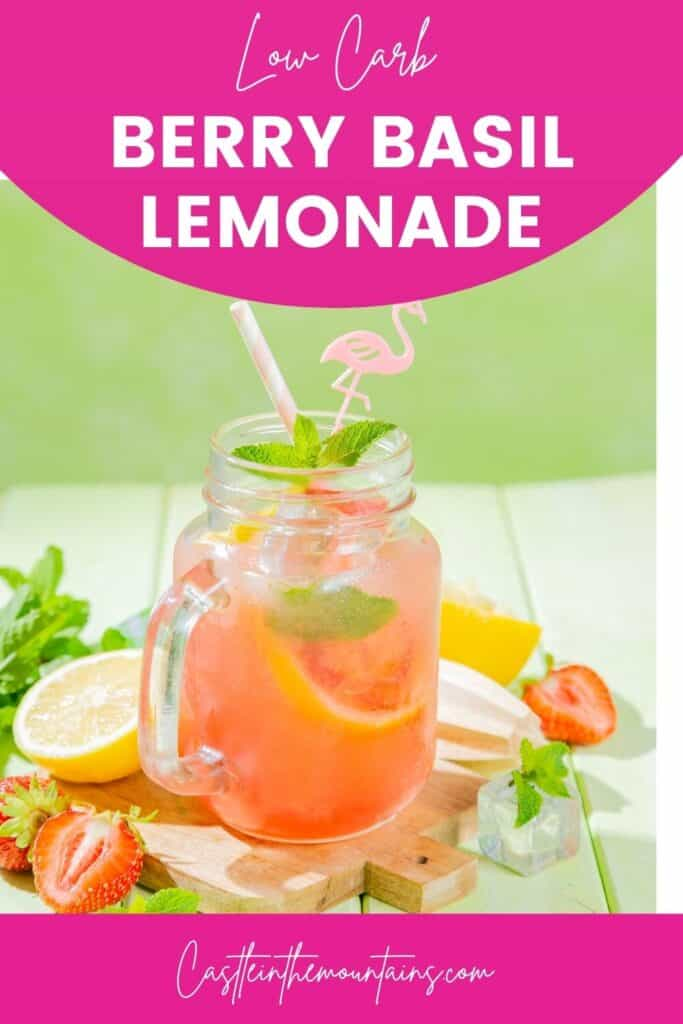 Low Carb Strawberry Basil Lemonade Pins (4)