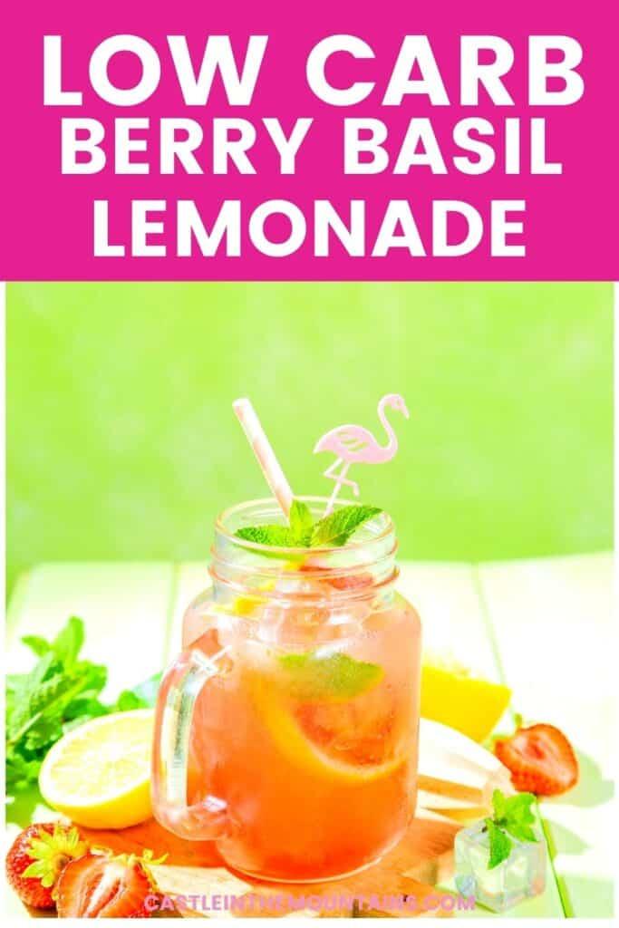 Low Carb Strawberry Basil Lemonade Pins (5)