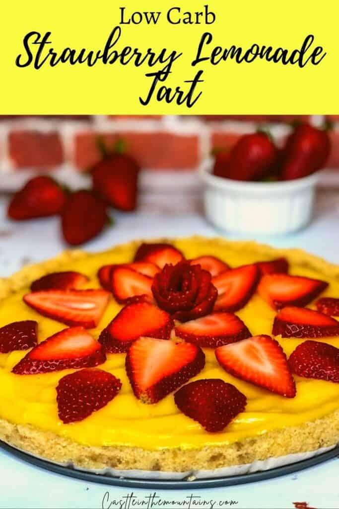 Low Carb Strawberry Lemonade tart Pins (1)