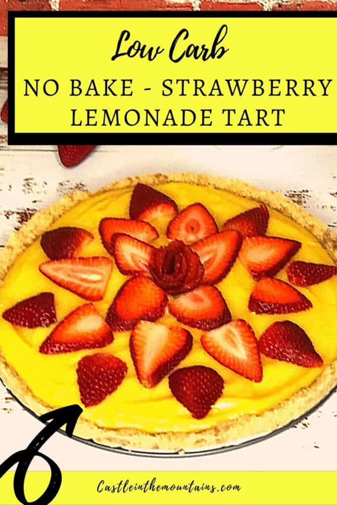 Low Carb Strawberry Lemonade tart Pins (2)