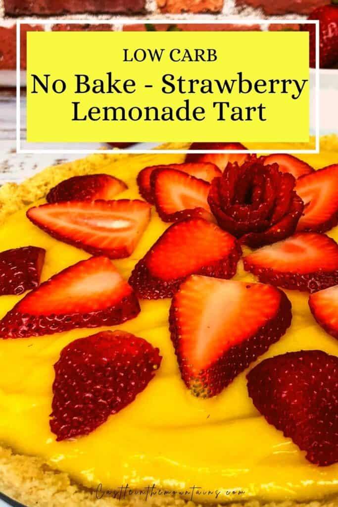 Low Carb Strawberry Lemonade tart Pins (4)