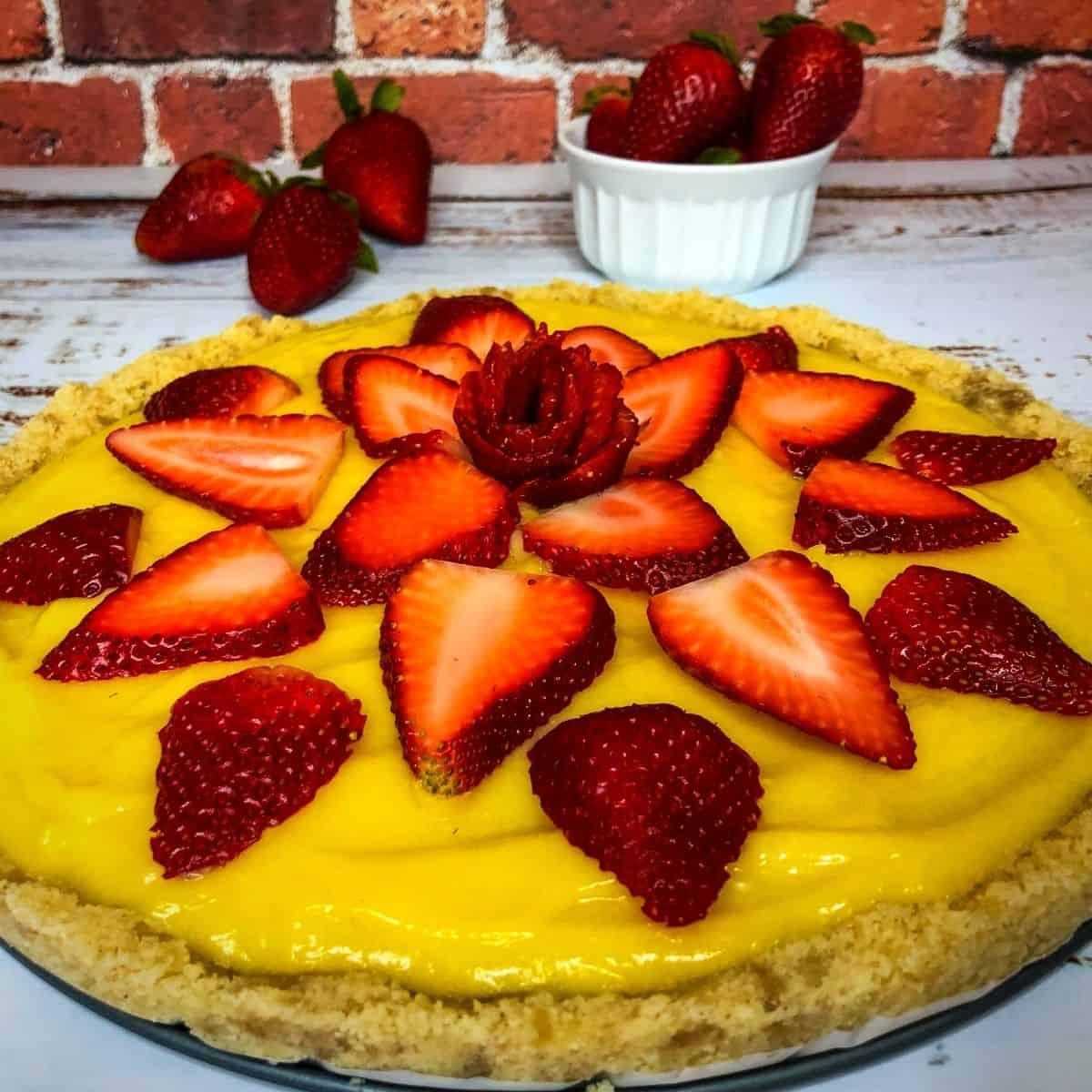 Low Carb Strawberry Lemonade Tart FI