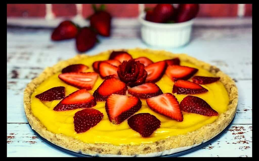 Served Low Carb Strawberry Lemonade tart Post