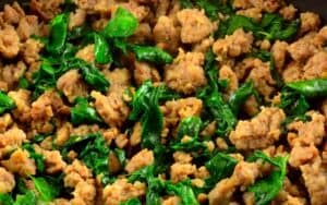 sausage and Spinach