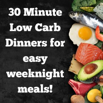 30 minute low carb dinners fi