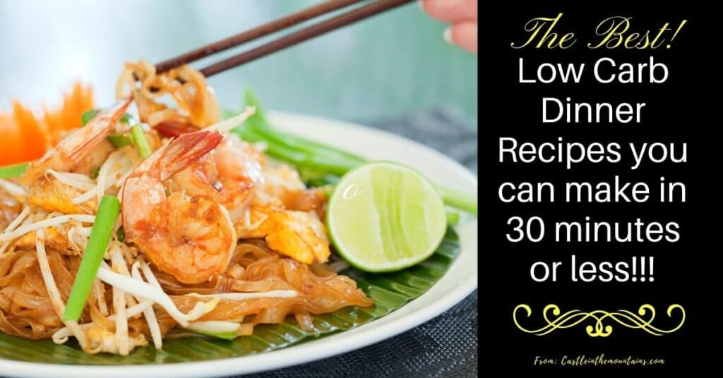 Best 30 minute low carb dinners FB!