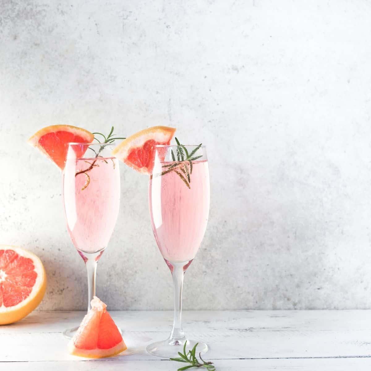 Low Carb Lavender Grapefruit Mimosa FI
