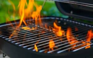 Heating up grill