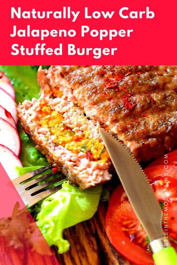 Jalapeno Popper Stuffed Burger Pins (3)