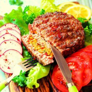 Low Carb Jalapeno Popper Burger FI
