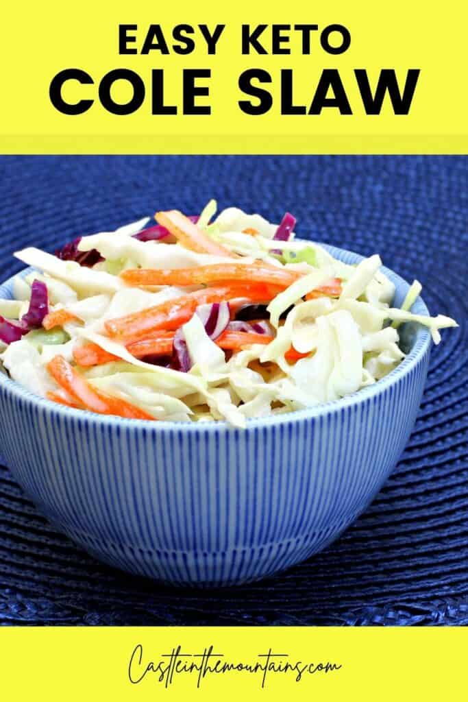 Keto Coleslaw Recipe Pins (5)
