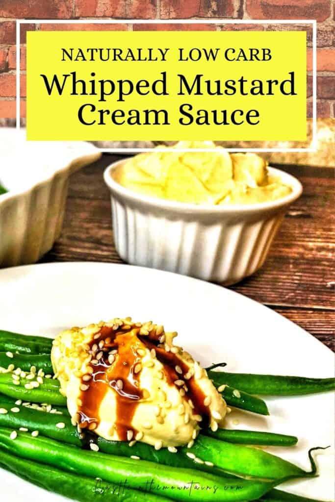 Keto Mustard Whipped Cream Sauce Pins(4)
