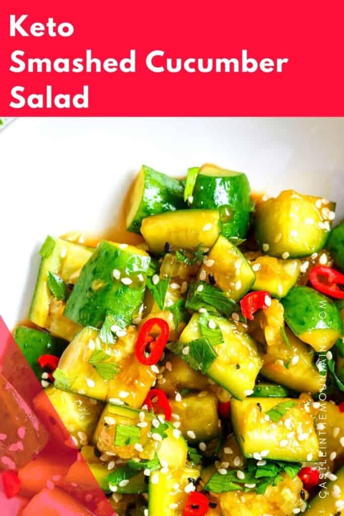 Keto Smashed Cucumber Salad Pins (3)